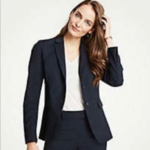 CLUB MONACO | Black Two Button Wool Blazer Sz. 8